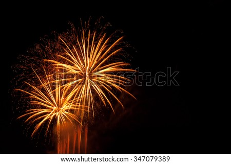 blue fireworks new year's eve - stock photo