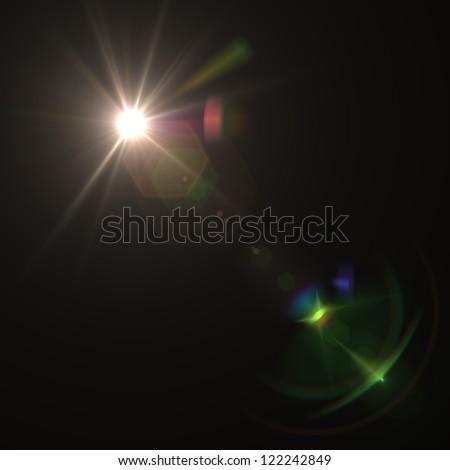 blue flare - stock photo