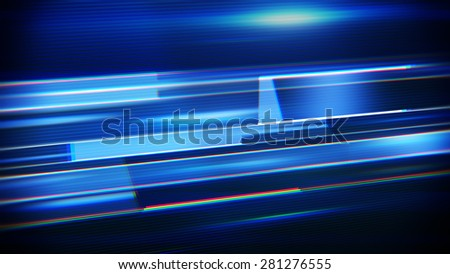 blue flashing stripes. computer generated abstract techno background - stock photo