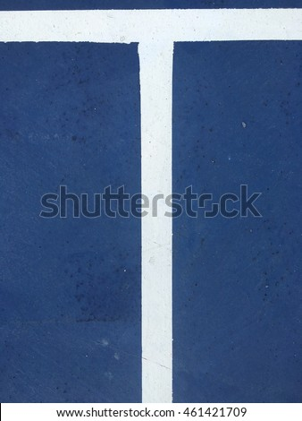 Blue floor texture with white line