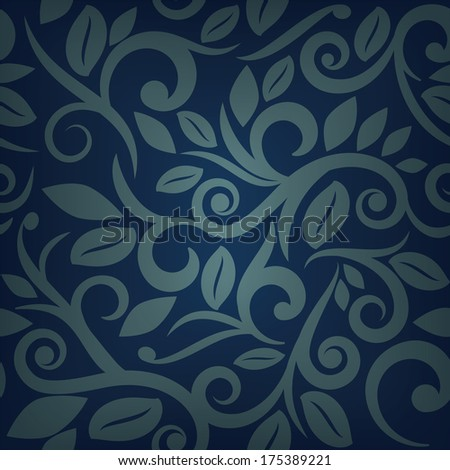 Blue floral background square layout for scrapbooking