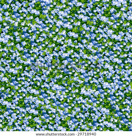 Blue flower seamless background. (See more seamless backgrounds in my portfolio). - stock photo