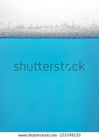 Blue foam bubbles background - stock photo