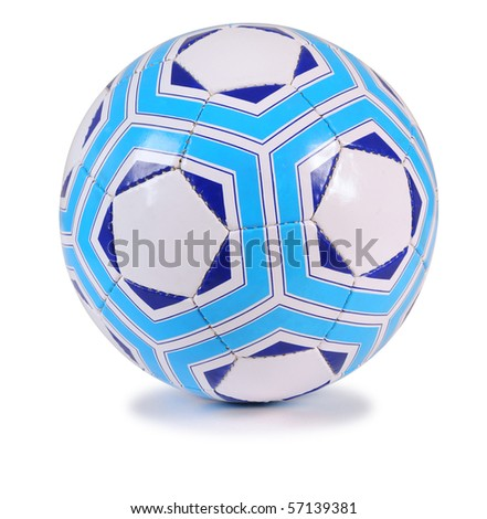 Blue football. Isolated
