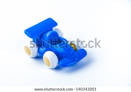 Blue formula one car toy