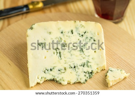 Blue french cheese - stock photo