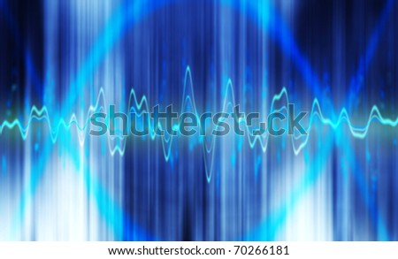 blue frequency abstract blurred background