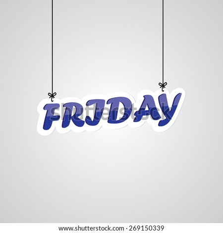 Blue Friday Sign Hanging On Gray Background. - stock photo