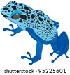 Blue frog. Raster version. - stock photo