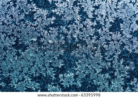 blue frost background - stock photo