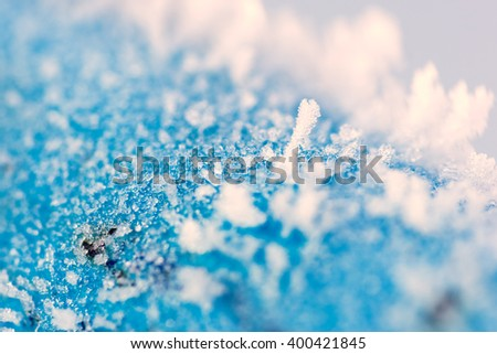 Blue frost texture - stock photo