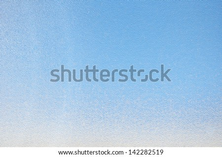 Blue frosted glass - stock photo