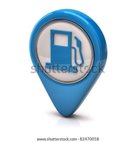 Blue fuel icon - stock photo
