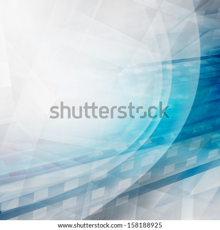 Blue Futuristic Abstract Background - stock photo
