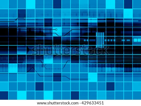 Blue futuristic technology abstract background