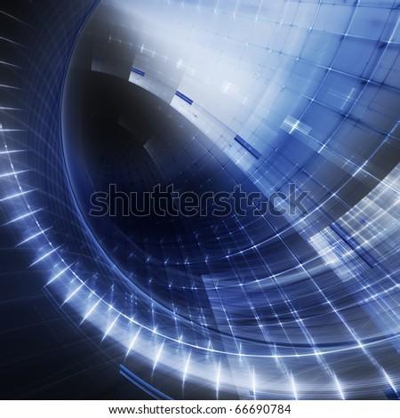 Blue futuristic texture - stock photo