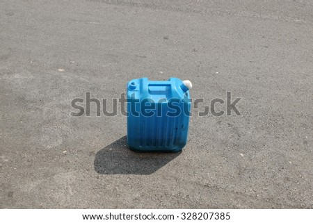 Blue gallon - stock photo