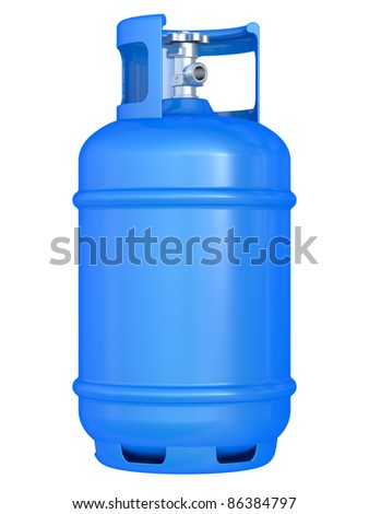 blue gas balloon isolated on a white background - stock photo