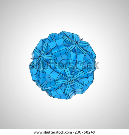 blue geometric shape