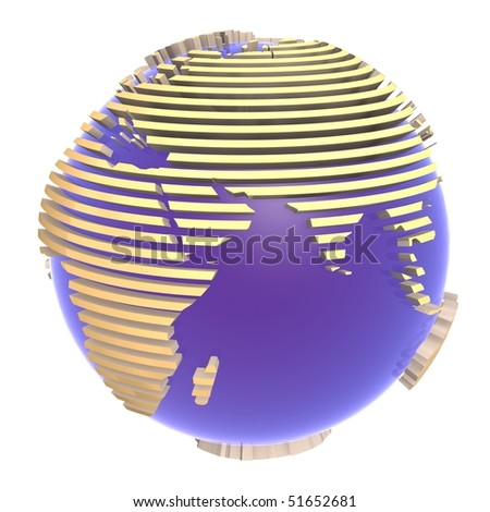 Blue glass earth - stock photo