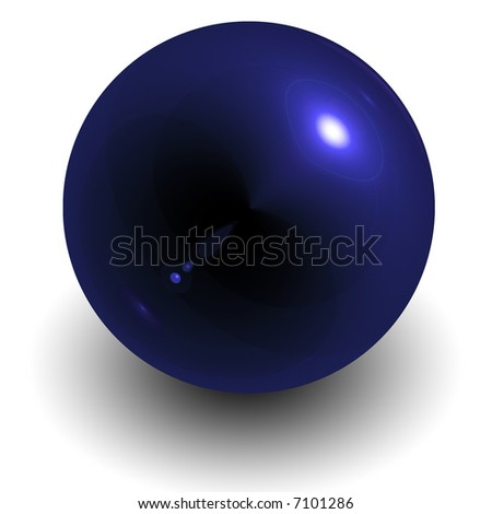 blue glass orb