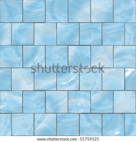 Blue glass tiles seamless texture - stock photo