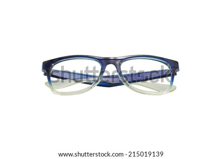 Blue glasses Isolated on White