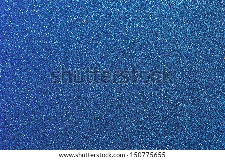 Blue glitter for texture or background - stock photo