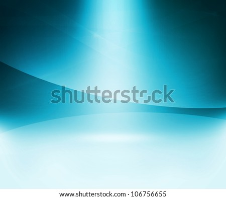 Blue Glow Abstract Background - stock photo