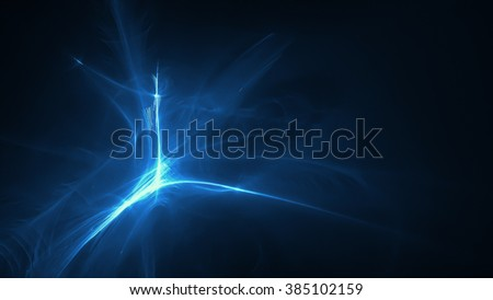 blue glow energy wave. lighting effect abstract background. This image is suitable for any purpose, such as science, fantastic, sci-fi, horror, supernatural and etc. - stock photo