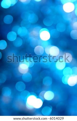 Blue glow light blur - stock photo