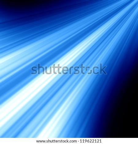 Blue glowing lights with room for an added object - stock photo