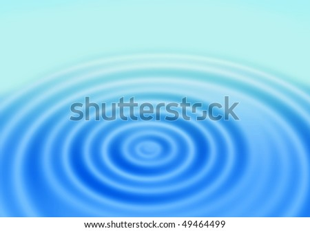 blue gradient abstract background with rings on a water surface - stock photo