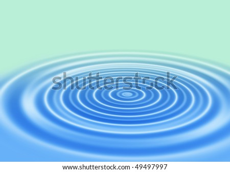 blue gradient abstract background with rings on a water surface