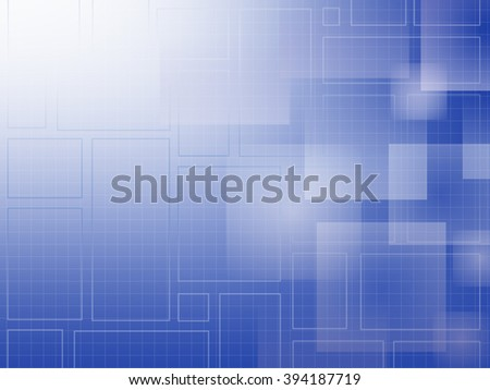 Blue gradient Abstract Squares and grid - stock photo