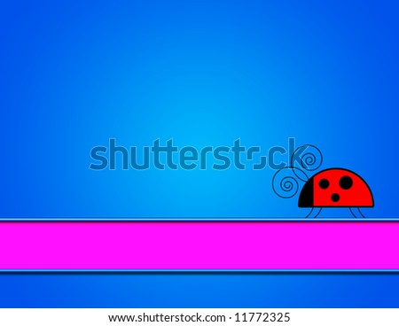 blue gradient background ladybug banner stock illustration 11772325