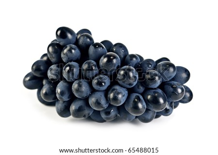 blue grape isolated on white - stock photo