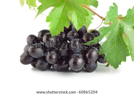 Blue grape isolated on white background