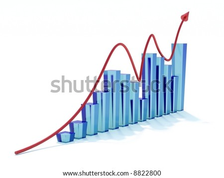 Blue graph and red arrow