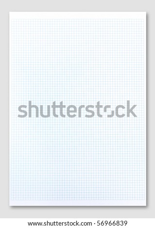 Blue graph paper. - stock photo