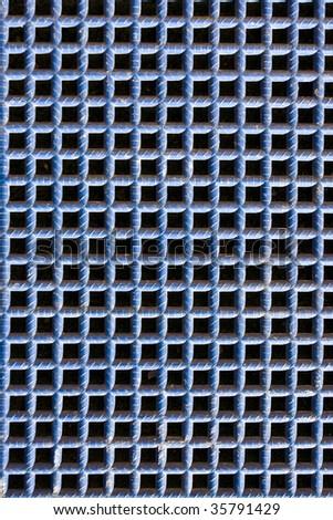 Blue grate pattern - stock photo