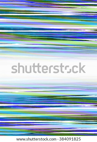 Blue, green and purple ripped paper strips background with copy space