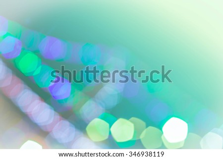 Blue, green and turquoise festive background with bokeh defocuse - stock photo