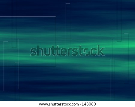 blue green background with subtle squares and rectangular shapes - stock photo