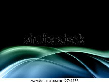 blue green dark abstract composition - stock photo