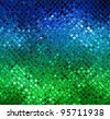 Blue green glass mosaic - stock photo