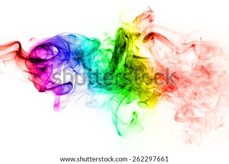 blue green yellow and pink smoke mystic body background