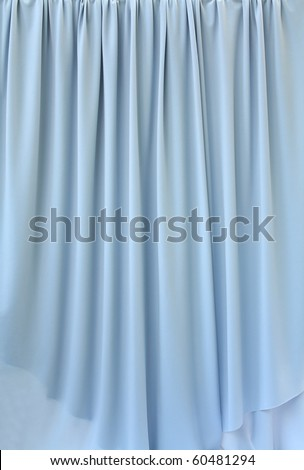 blue grey curtain fabric background texture - stock photo