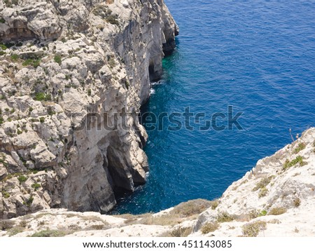 Blue Grotto area in Gozo, Malta - stock photo