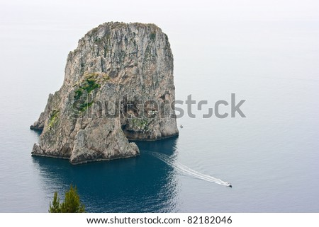 Blue Grotto, Capri, Italy - stock photo